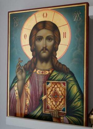 Christ Pantocrator Hand-Painted Orthodox Icon