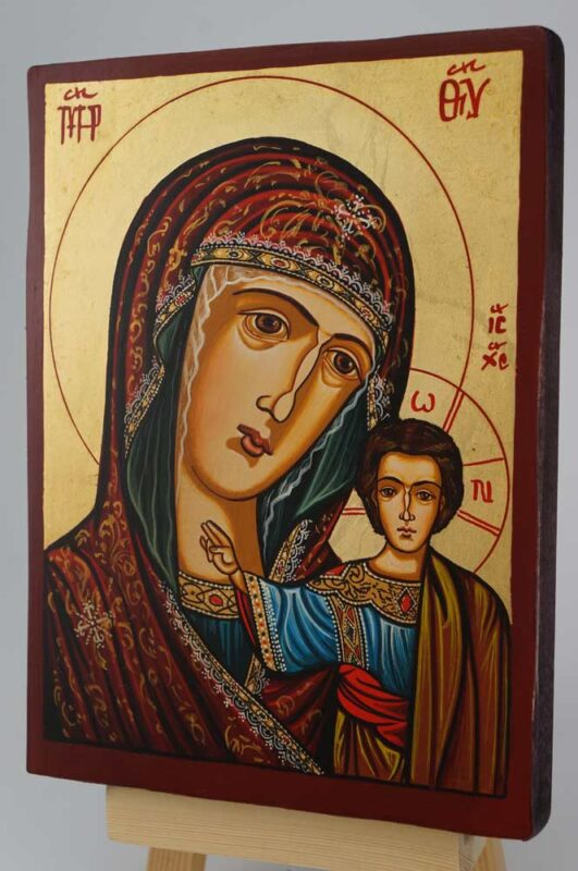 Kazanskaya Mother of God small Icon Hand Painted Byzantine Orthodox