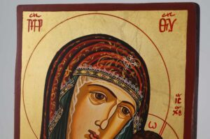Kazanskaya Mother of God small Icon Hand Painted Byzantine Orthodox