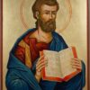 Mark the Evangelist Hand Painted Byzantine Orthodox Icon on Wood