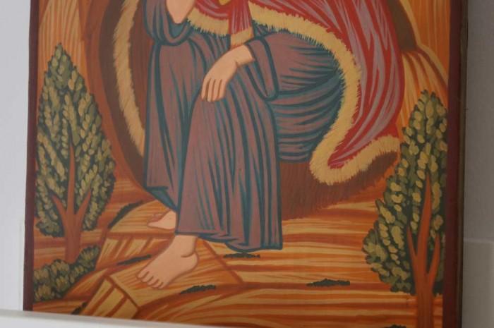 Prophet Elijah small Hand Painted Orthodox Icon on Wood