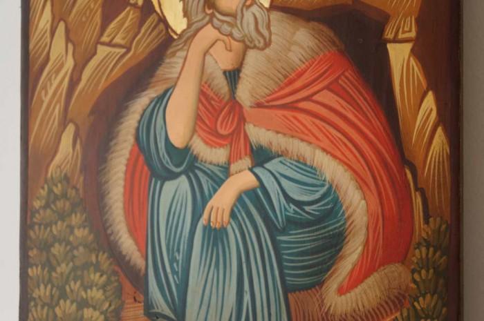 Prophet Elijah Hand-Painted Byzantine Icon