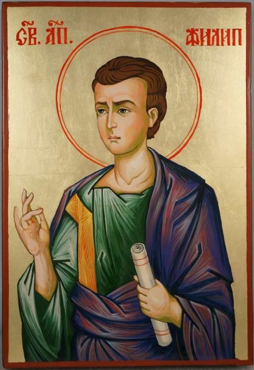 Saint Philip the Apostle Hand Painted Byzantine Orthodox Icon on Wood
