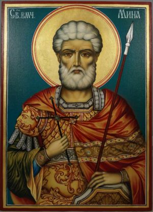 Martyr Menas of Egypt Hand-Painted Orthodox Icon