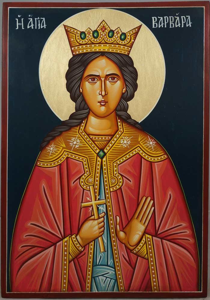 St Barbara Hand-Painted Byzantine Icon