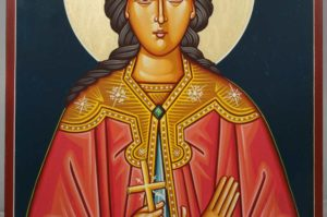 St Barbara Hand-Painted Byzantine Icon
