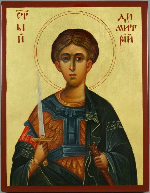 St Demetrius the Great Martyr Hand-Painted Greek Icon