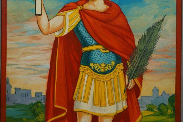 Saint Expeditus Expedite Hand-Painted Roman Catholic Icon