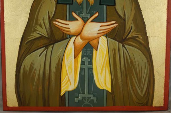 St Silouan the Athonite Hand-Painted Greek Orthodox Icon