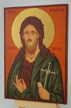 St John the Baptist small Icon Hand Painted Byzantine Orthodox