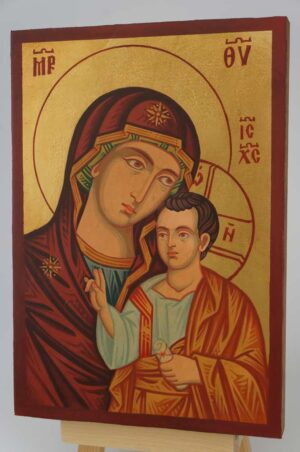 Theotokos Hodegetria small Icon Hand Painted Byzantine Orthodox