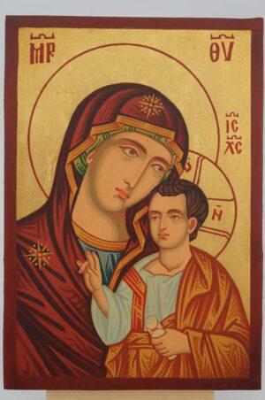 Theotokos Hodegetria small Icon Hand Painted Byzantine Orthodox