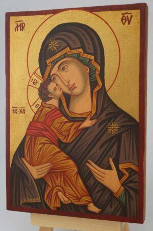 Theotokos of Vladimir small Icon Hand Painted Byzantine Orthodox