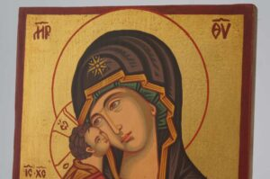 Theotokos of Vladimir small Icon Hand Painted Byzantine Orthodox