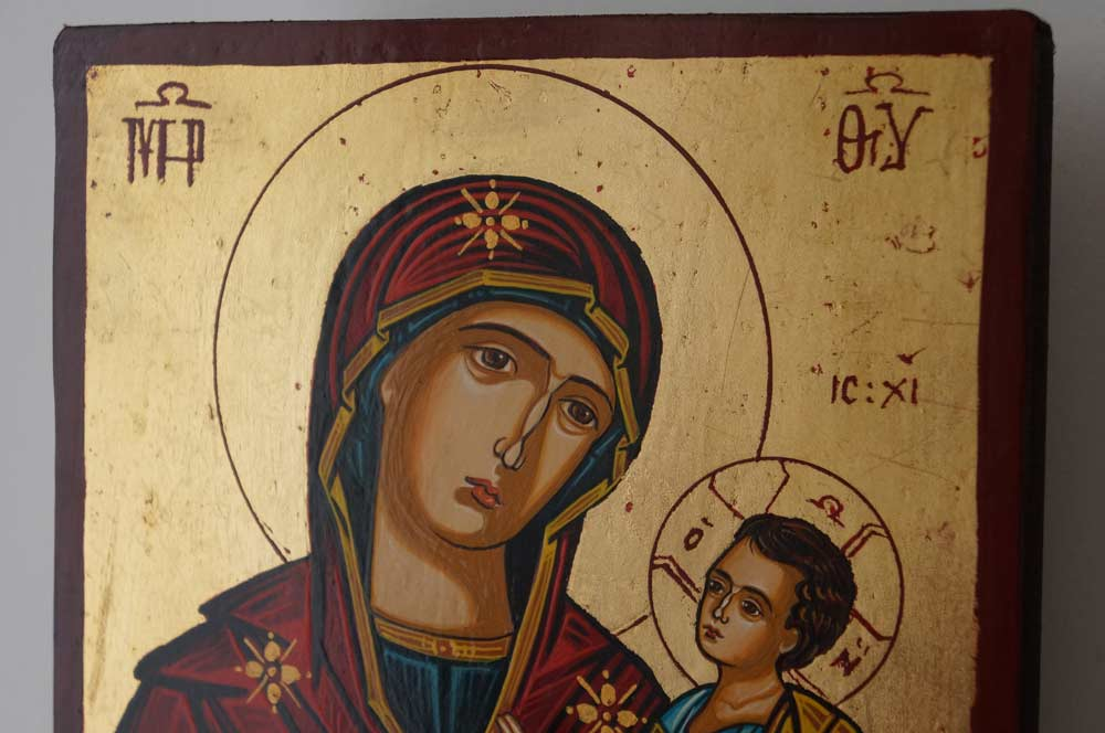 Theotokos the Guide small Hand Painted Orthodox Icon