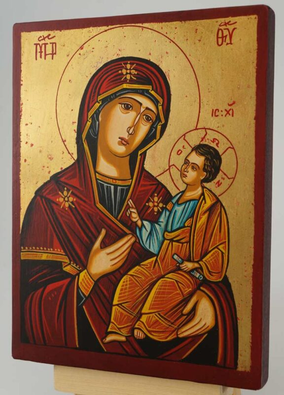 Theotokos the Guide small Icon Hand Painted Orthodox Icon