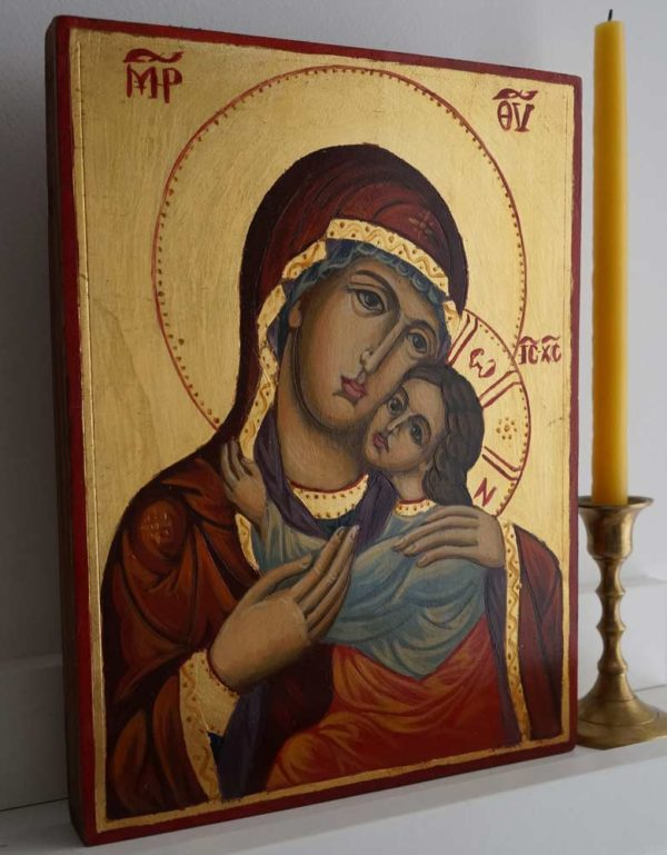 Theotokos Glykophilousa Hand-Painted Orthodox Icon