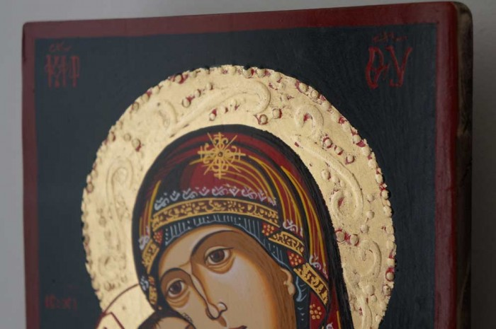 Virgin Mary Eleusa (small) Hand-Painted Orthodox Icon