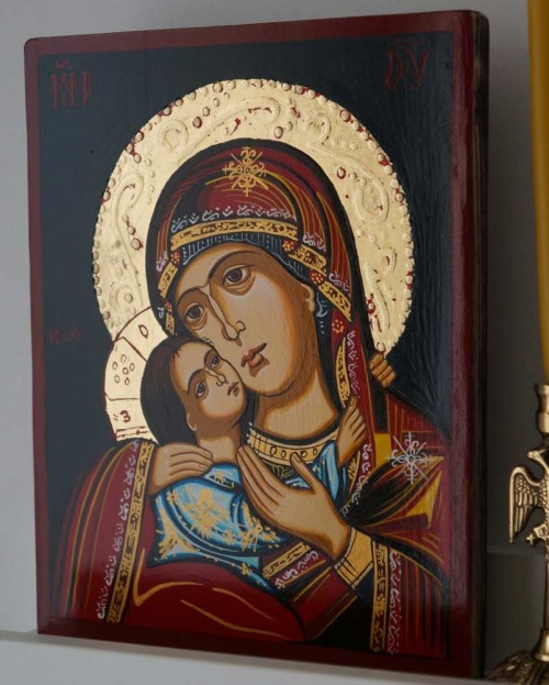 Theotokos Eleusa Rilska Hand Painted Byzantine Orthodox Icon