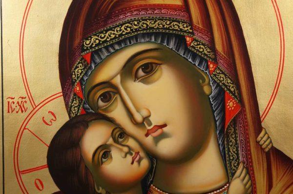 Theotokos Tenderness (Rila Monastery) Rilska Hand-Painted Bulgarian Orthodox Icon