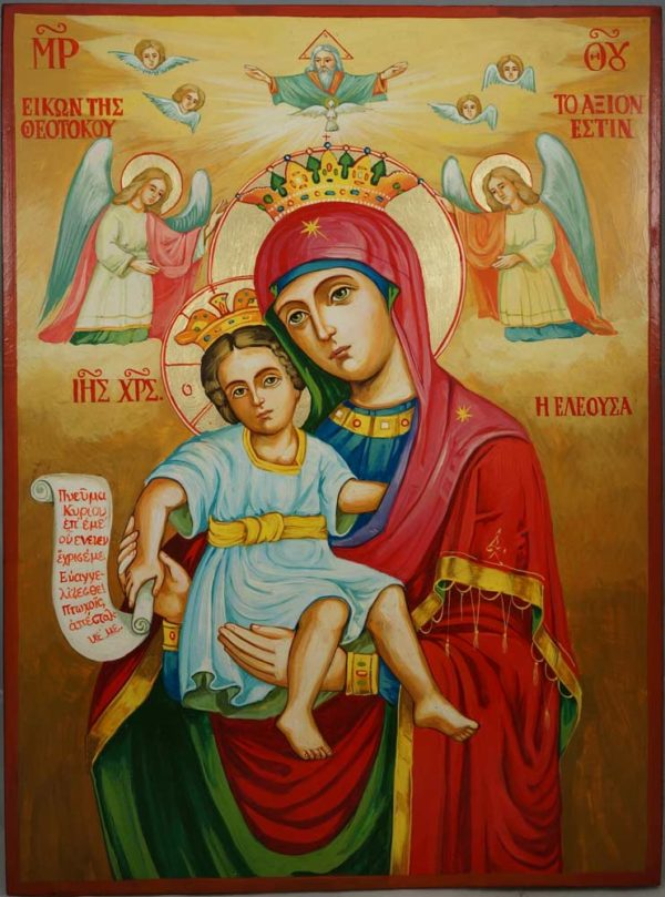 Theotokos It is Truly Meet Hand-Painted Orthodox Icon