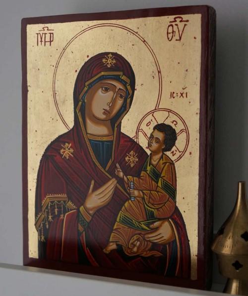 Theotokos Hodegetria Guide Hand Painted Orthodox Icon on Wood