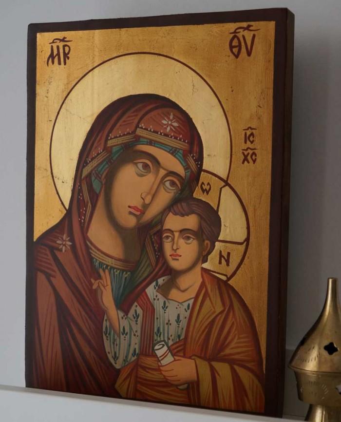 Theotokos Hodegetria Hand-Painted Icon