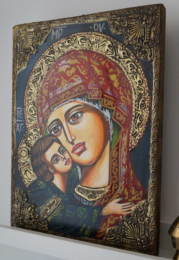 Theotokos Sweet Loving Hand-Painted Orthodox Icon