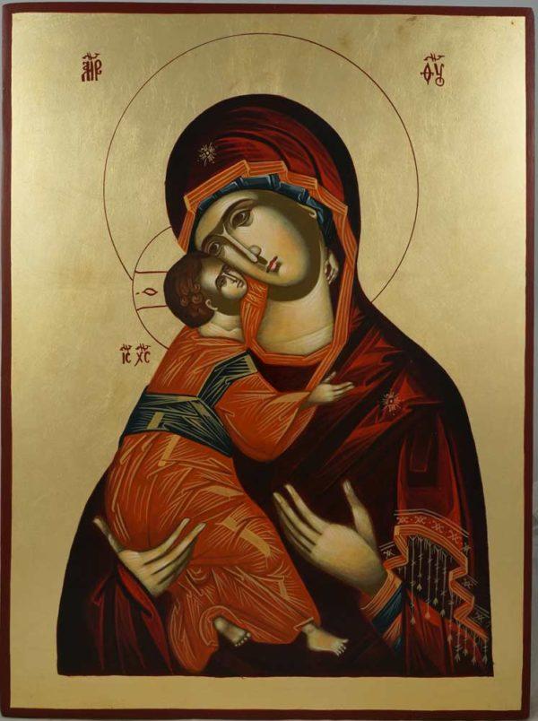 Theotokos of Vladimir Hand-Painted Russian Orthodox Icon