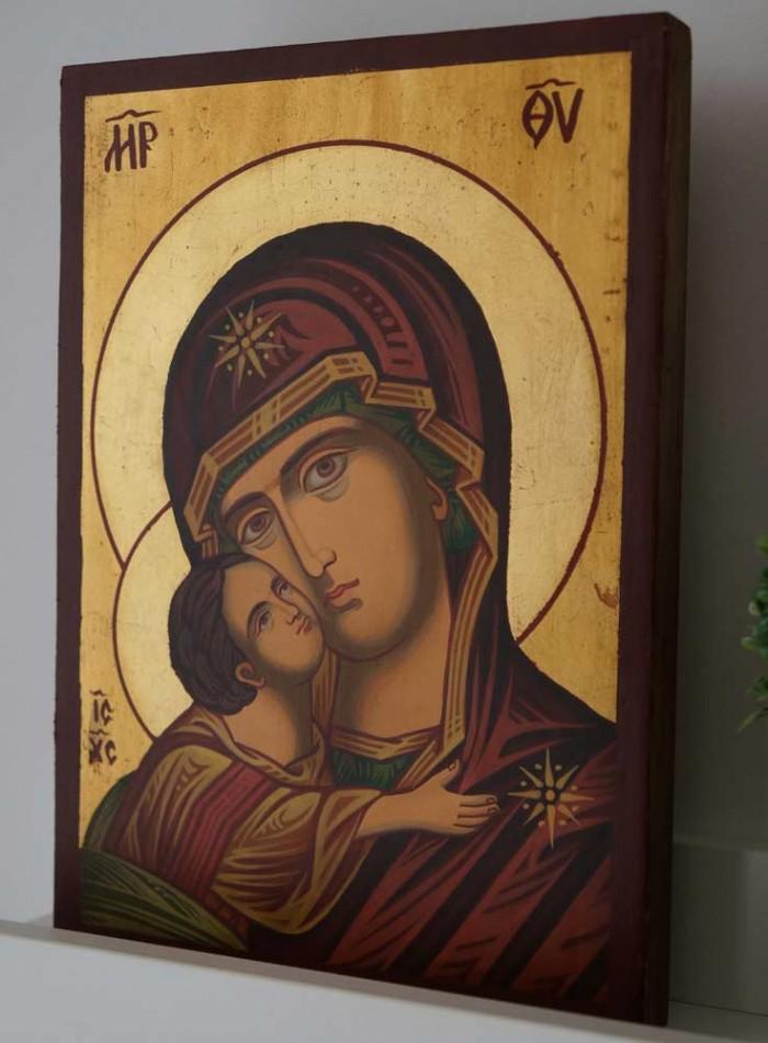 Theotokos Eleusa Hand-Painted Orthodox Icon