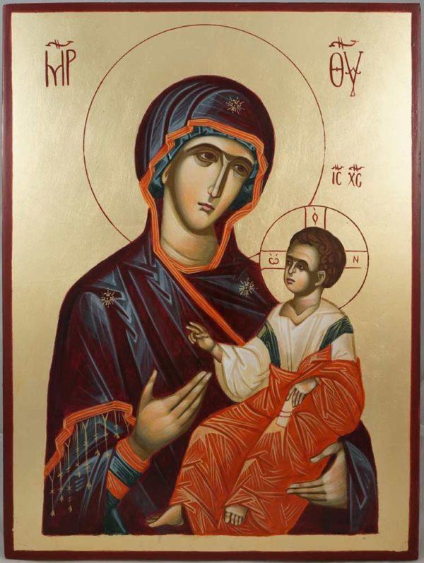 Theotokos the Guide - Hodegetria Hand-Painted Byzantine Icon