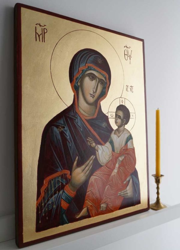 Theotokos the Guide - Hodegetria Hand-Painted Byzantine Icon
