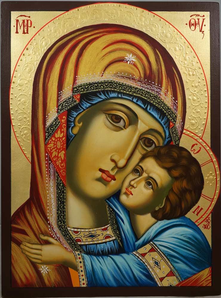 The Virgin Eleousa Hand-Painted Orthodox Icon