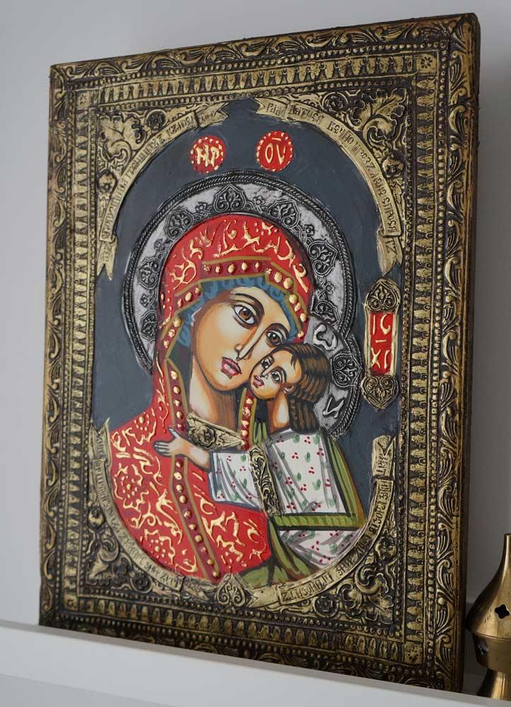 Theotokos Sweet Loving Hand-Painted Byzantine Icon