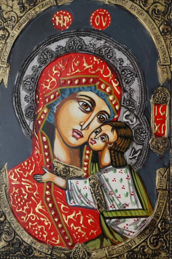 Theotokos Sweet Loving Hand-Painted Byzantine Icon