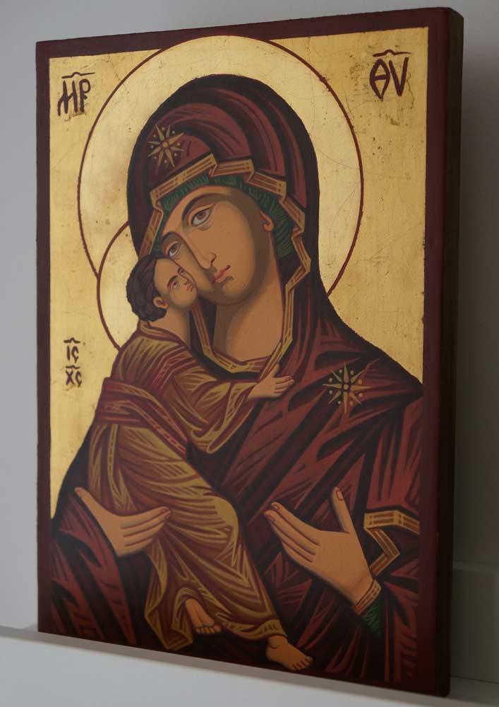 Theotokos of Vladimir (small) Hand-Painted Orthodox Icon