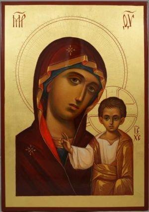 Kazanskaya Mother of God Hand-Painted Russian Icon