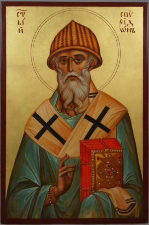 St Spyridon of Trimythous Hand-Painted Orthodox Icon