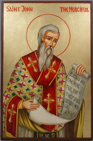 Saint John the Merciful Hand-Painted Orthodox Icon