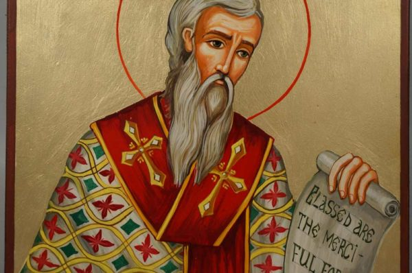 Saint John the Merciful Hand-Painted Orthodox Icon Blessed are the merciful for they shall obtain mercy