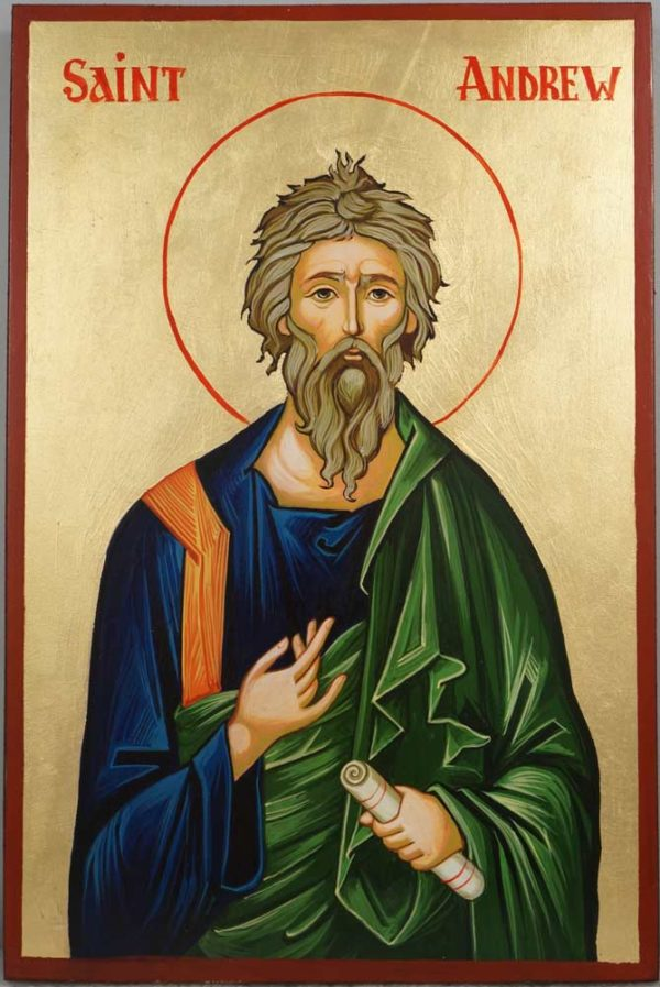 Hand-Painted Orthodox Icon of Saint Andrew the Apostle