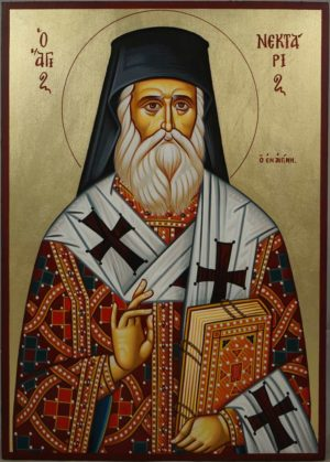 Saint Nektarios of Aegina Hand-Painted Greek Icon