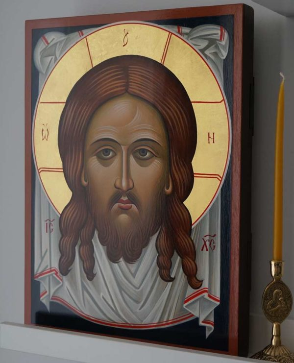 The Holy Face Ubrus Mandylion Hand-Painted Russian Orthodox Icon