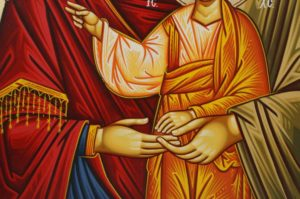 The Holy Family Hand-Painted Greek Orthodox Icon