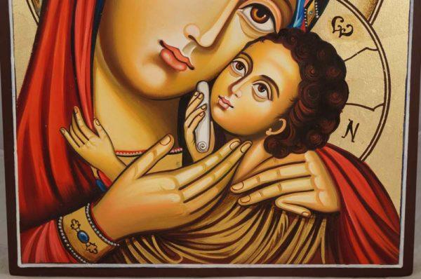 Hand-Painted Icon Theotokos Sweet Loving (Eleusa)