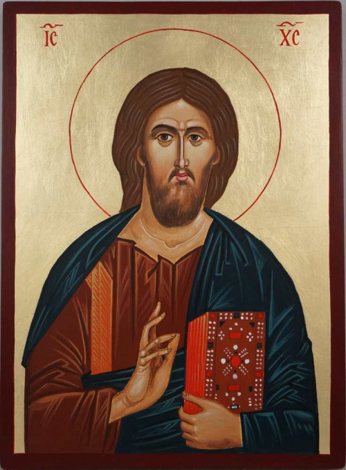 Christ Our Lord Mt Athos Hand Painted Byzantine Orthodox Icon
