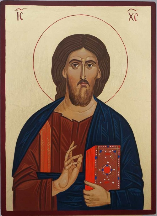 Christ Our Lord Mt Athos Hand Painted Greek Orthodox Icon