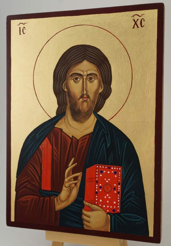 Christ Our Lord Mt Athos Icon Hand Painted Byzantine Orthodox