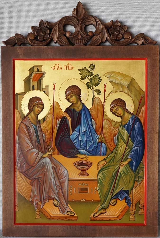 Hospitality of Abraham (Holy Trinity) Andrei Rublev Hand-Painted Icon