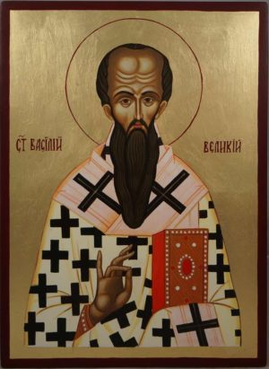 St Basil of Caesarea Hand-Painted Orthodox Icon